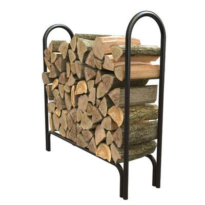 Panacea Deluxe Outdoor Log Rack - Black, 4""