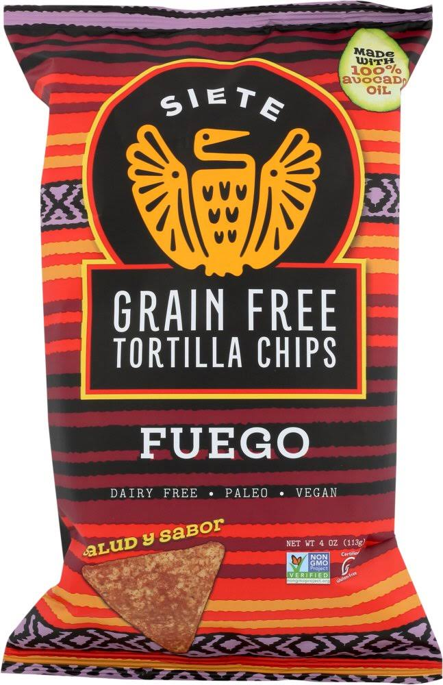 Siete Fuego Grain Free Tortilla Chips - 4 oz bag