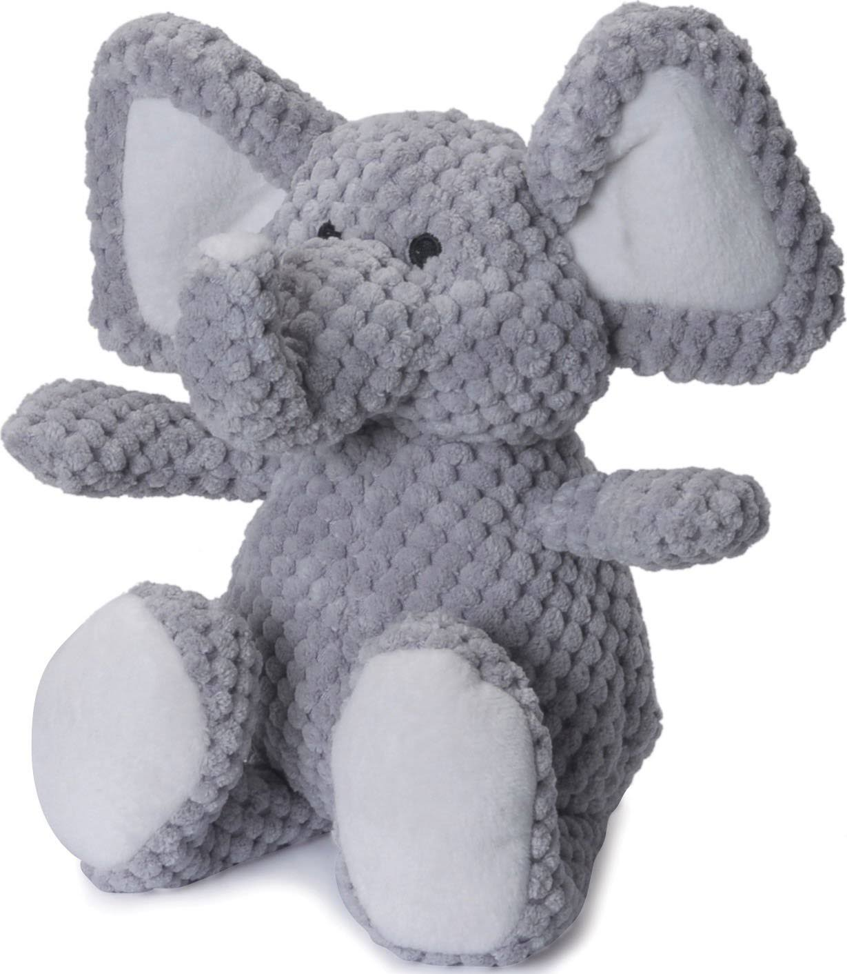 GoDog Checkers Elephant Plush Dog Toys