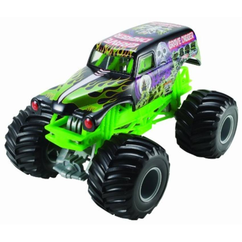 Hot Wheels Monster Jam Grave Digger Die-Cast Vehicle - 1:24 Scale