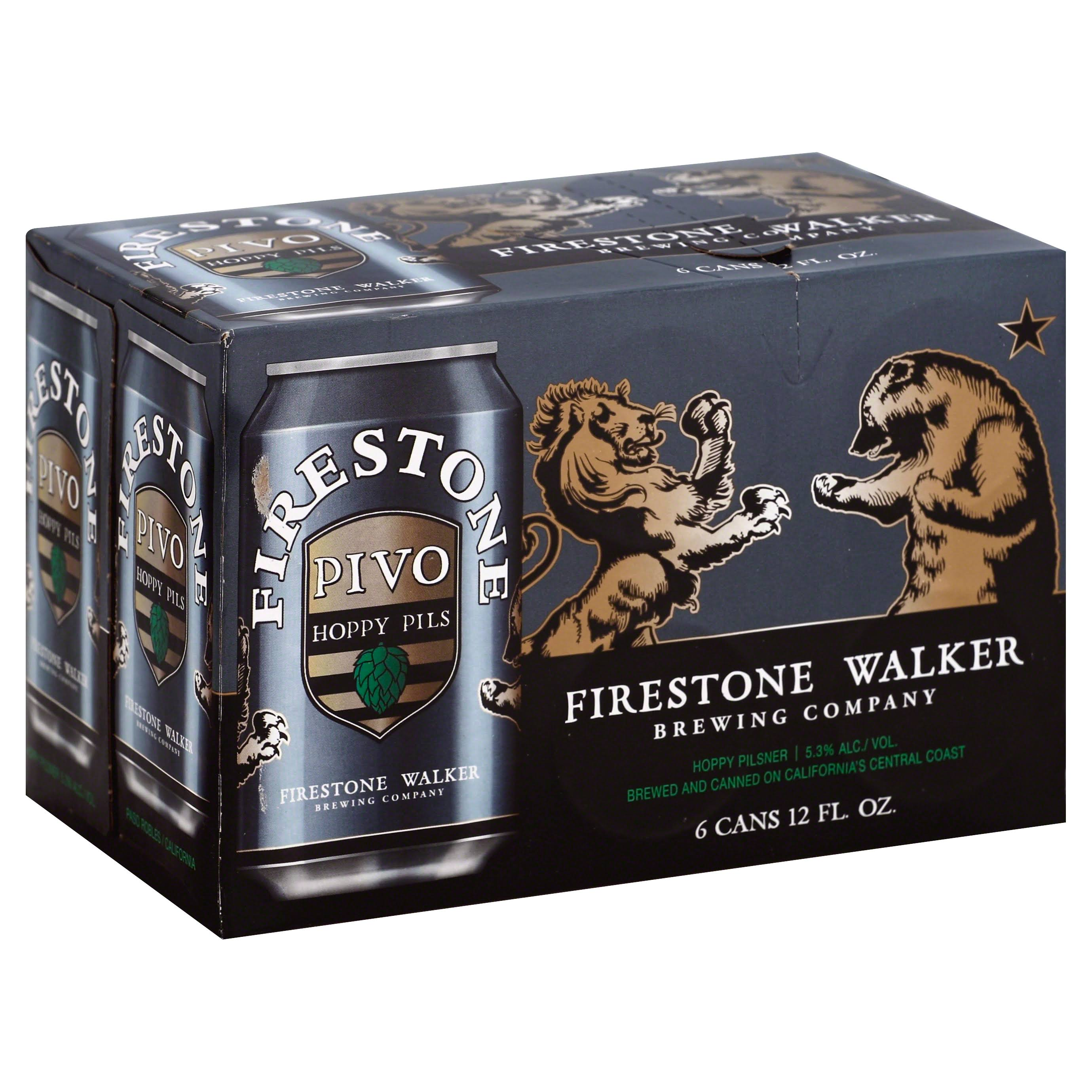Firestone Walker Pivo Hoppy Pils Double Barrel Ale - 6 pack, 12 fl oz cans