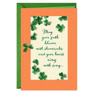 Blooming Shamrocks St. Patrick's Day Card