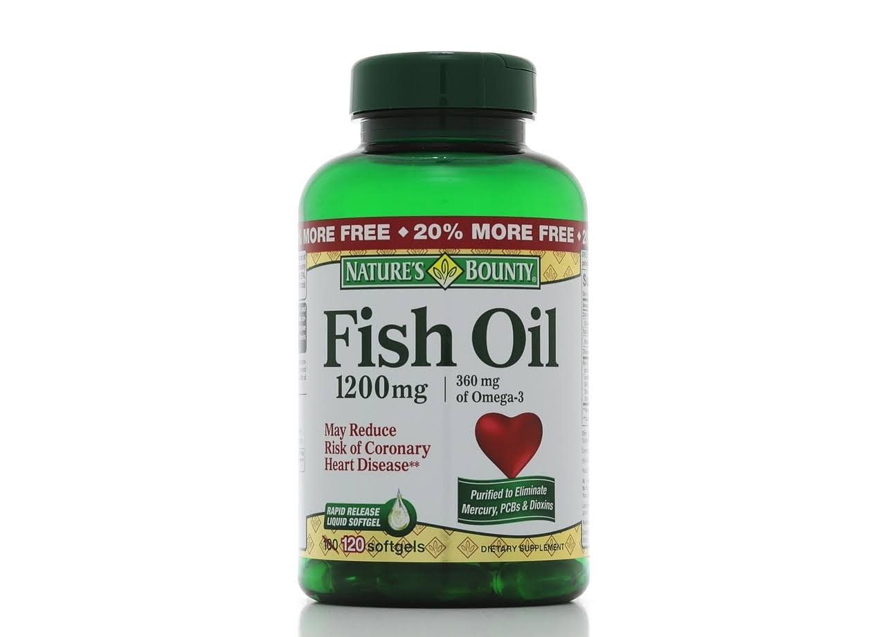 Nature's Bounty Fish Oil - 1200mg, x120