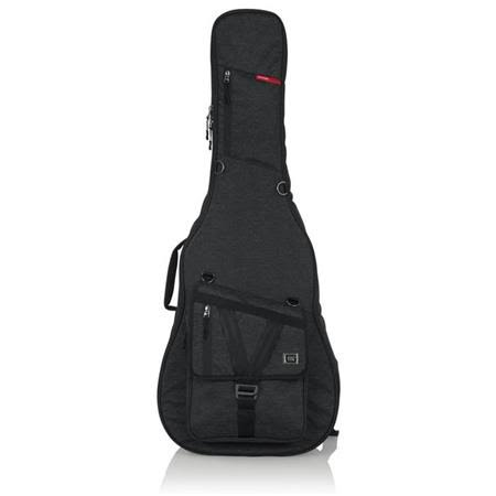 Gator Transit Series Acoustic Guitar Padded Protective Gig Bag - Charcoal Black