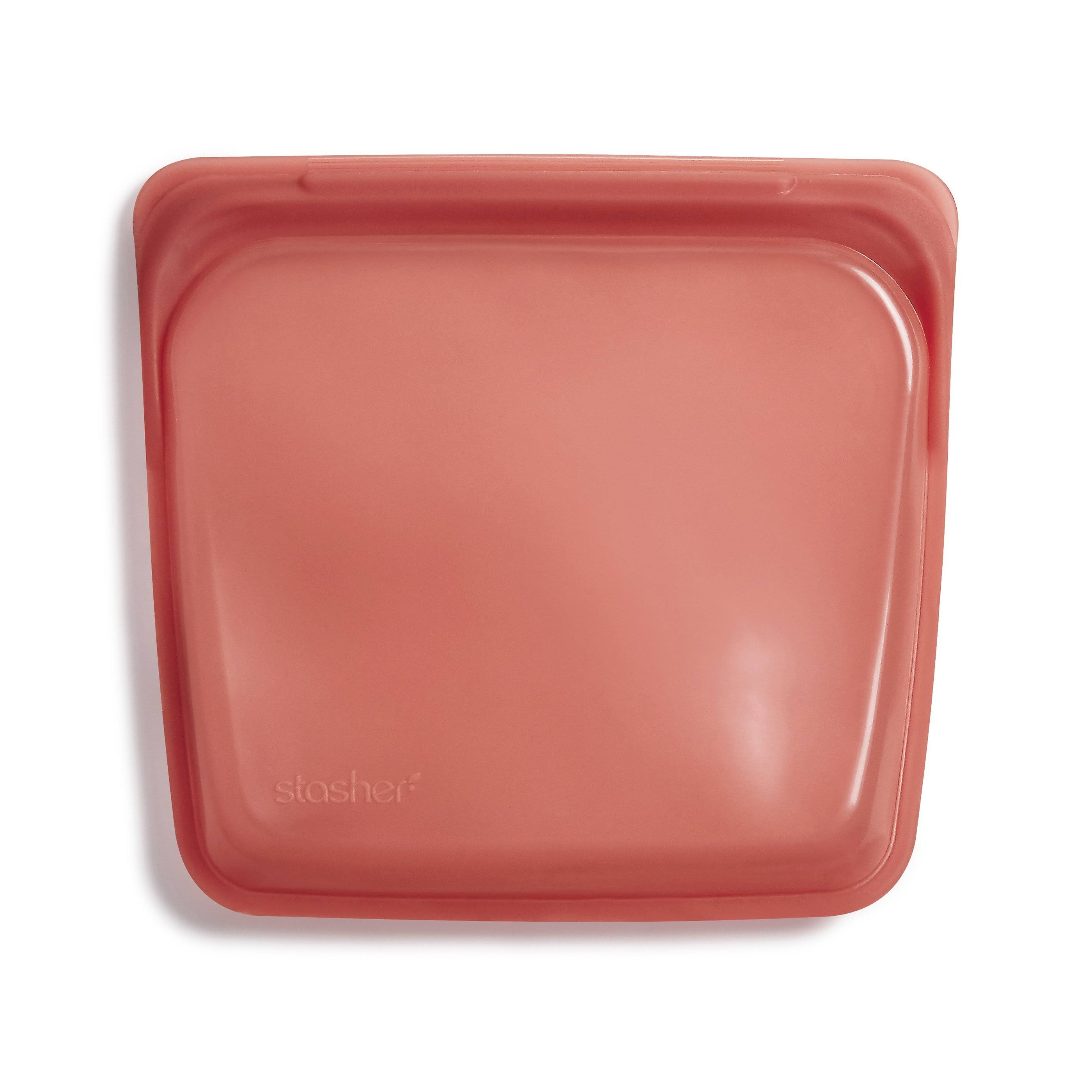 Stasher- Reusable Silicone Sandwich Bag Terra Cotta