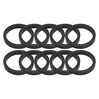 "Origin8 Headset Spacers - Black, 5mm x 1 - 1/8"", 10 Bag"