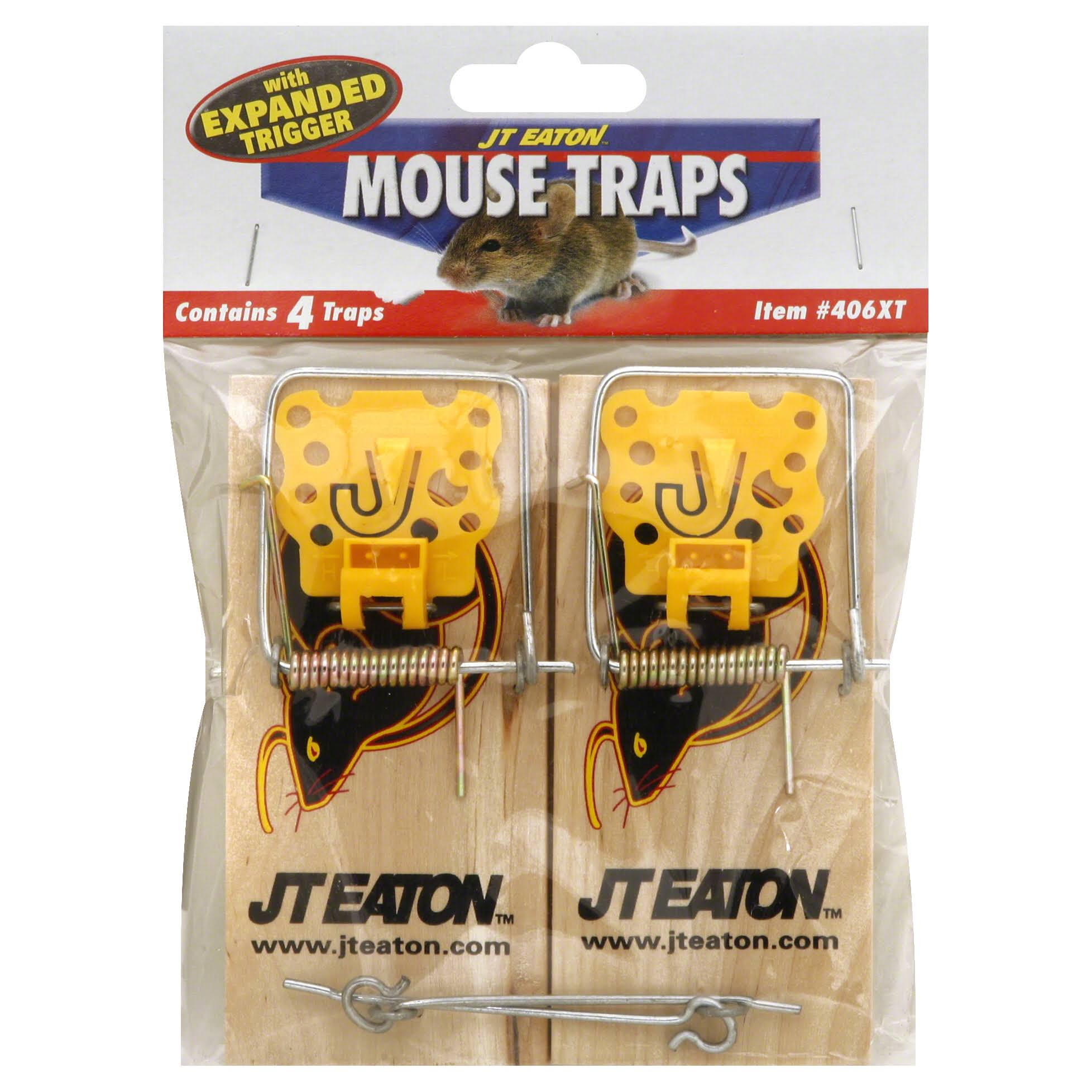 JT Eaton Mouse Traps with Expanded Trigger - 4 traps