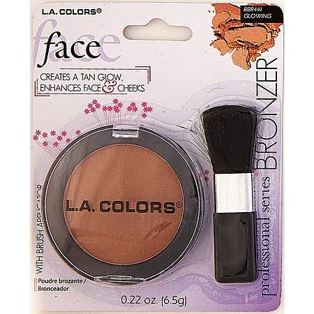 L.A. Colors Bronzer & Brush, Glowing, 0.23 oz