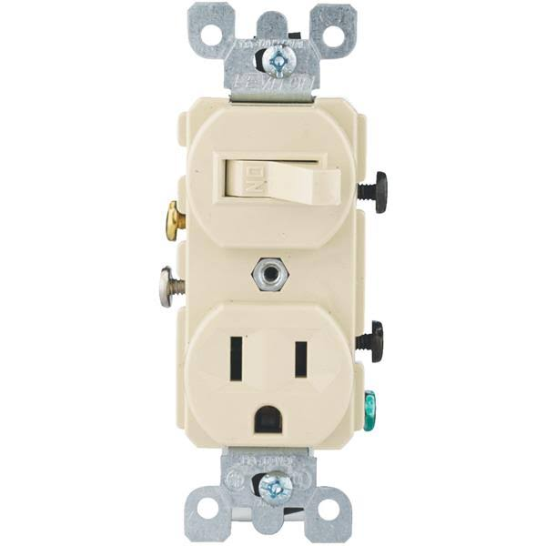 Leviton IV Outlet Switch - Ivory