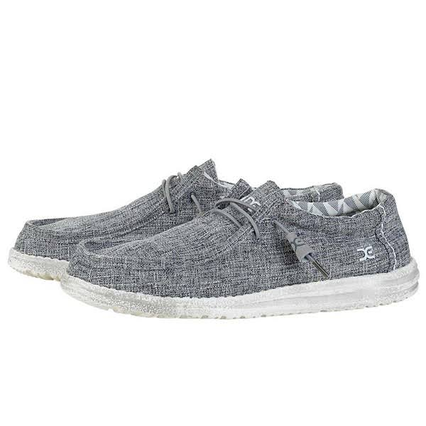 Hey Dude Men's Wally Linen Loafer - Iron, 13 US