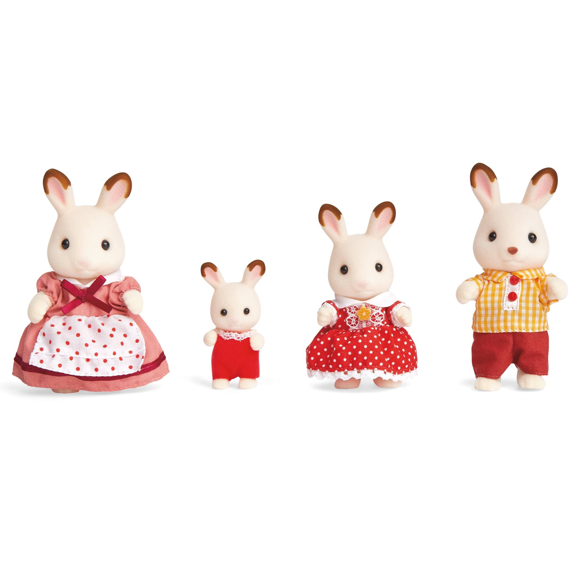 Calico Critters Hopscotch Rabbit Family Poseable Detailed Figures - 4ct