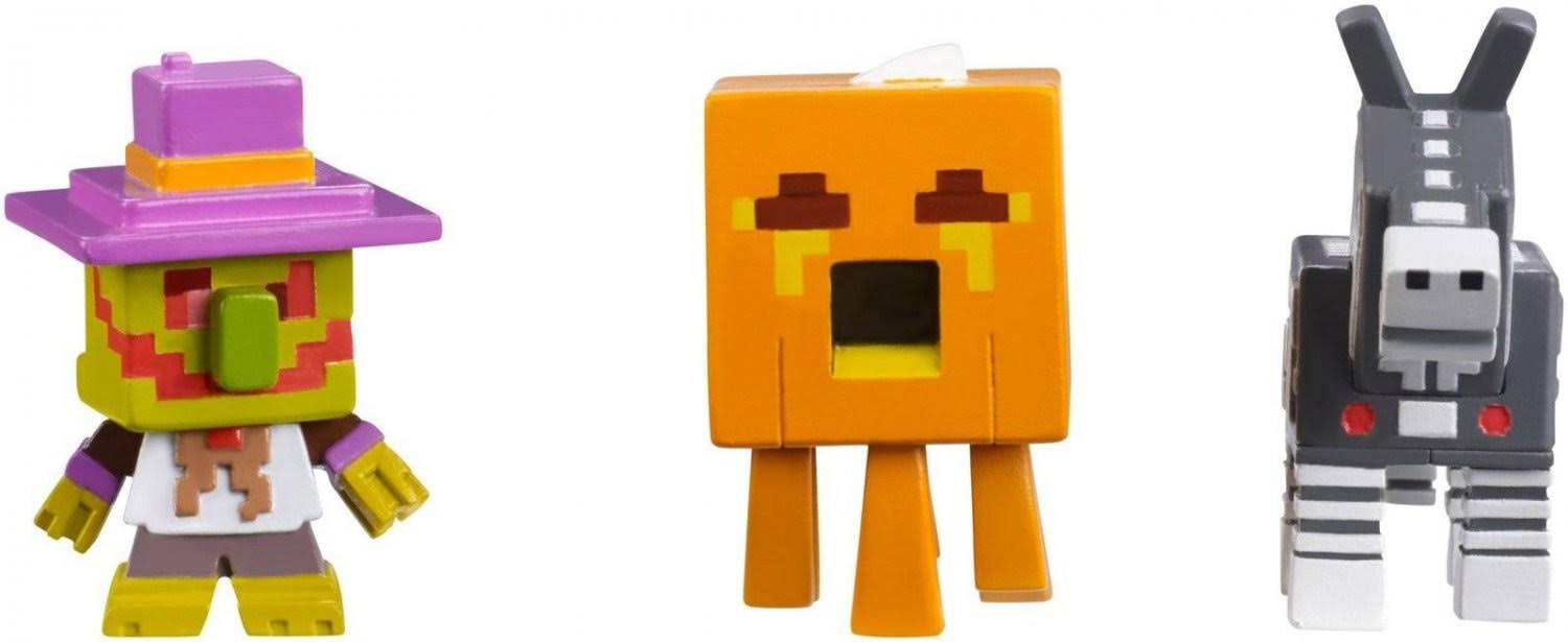 Minecraft Mini-Figures Halloween Series Action Figure - 3 Pack