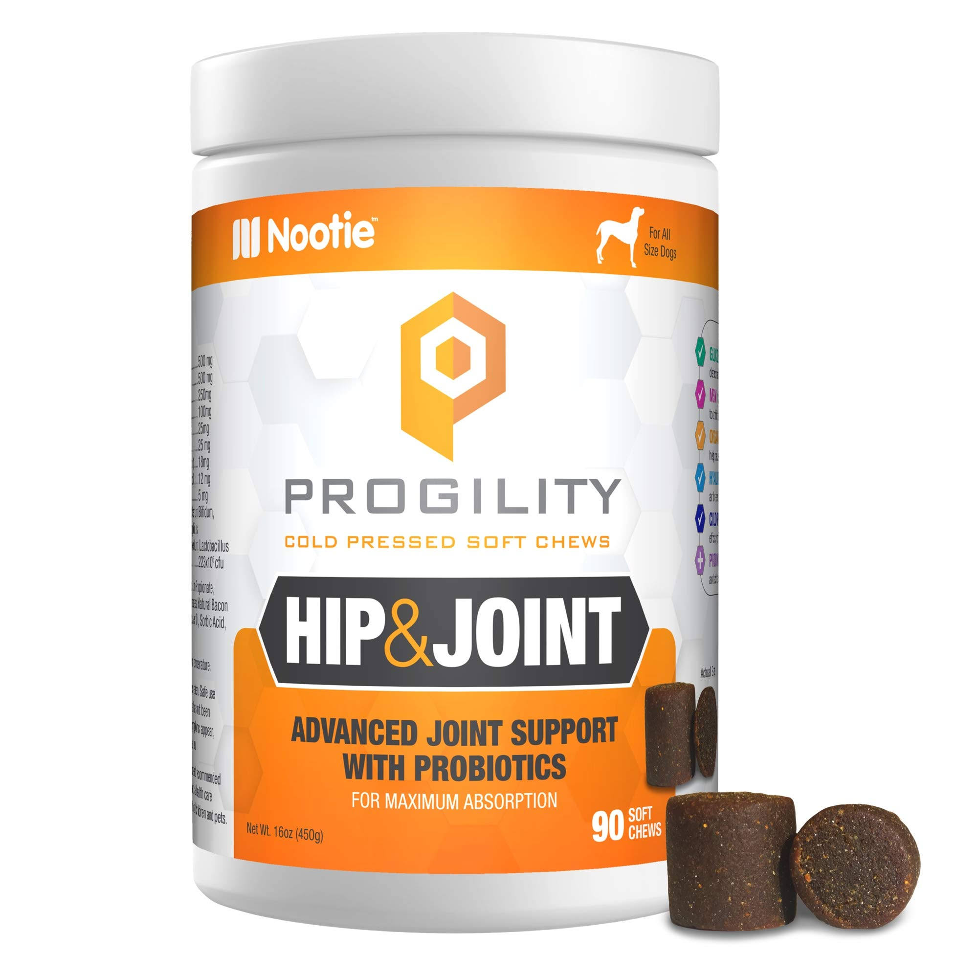 Nootie Progility Hip Joint for Dogs 90 Soft Chews