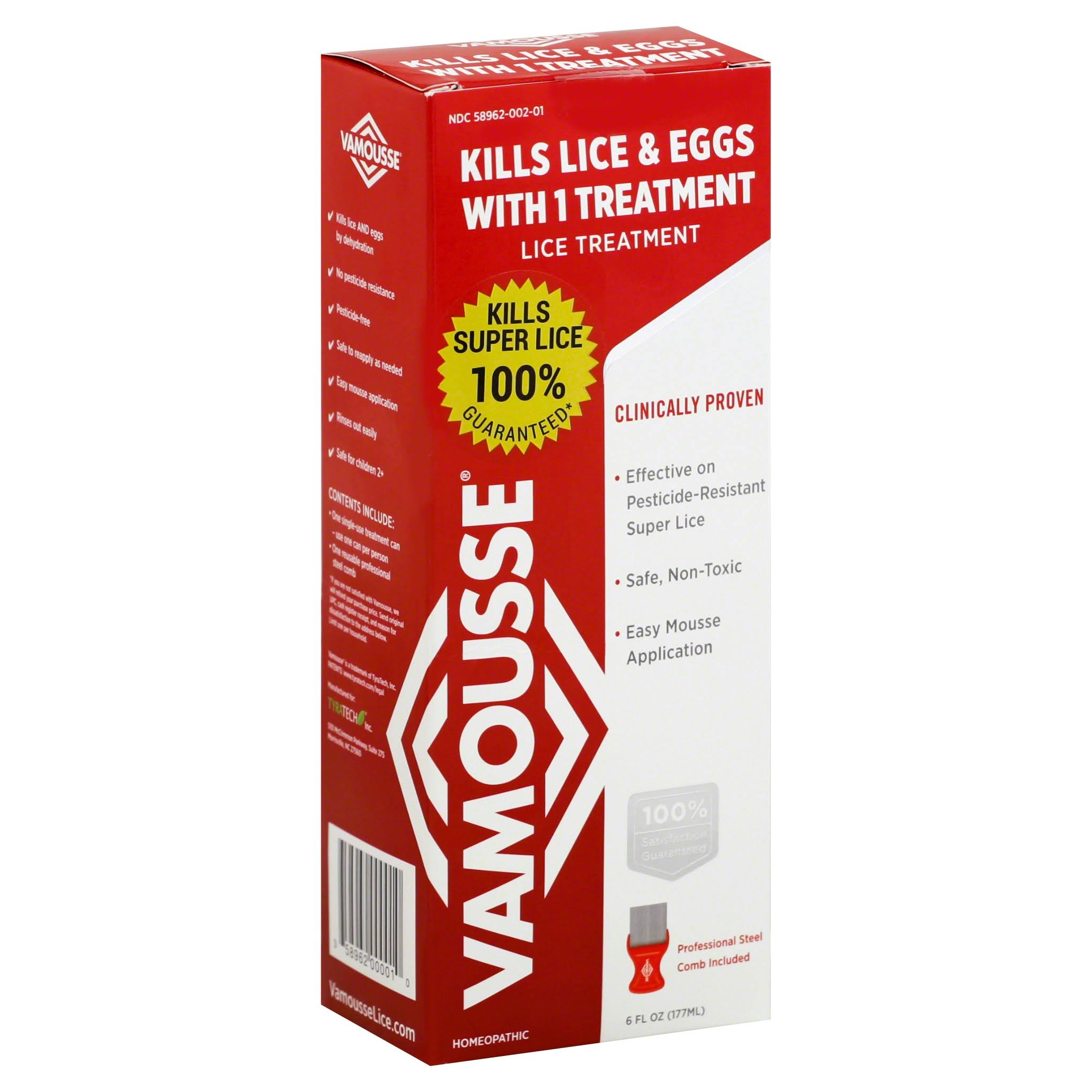 Vamousse Head Lice Treatment - 6oz