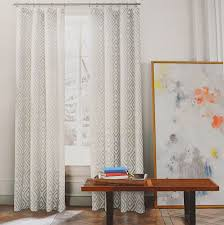 Moroccan Tile Curtain Panels by Tommy Hilfiger Diamond Lake Gray Beige Grey 2pc Window Curtain