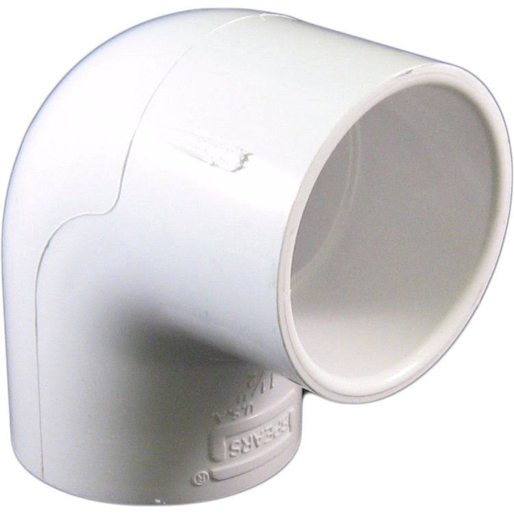 Spears Manufacturing Company 406 Series Pvc Pipe Fitting, 90 Degree Elbow, Schedule 40, White, 1-1/2""