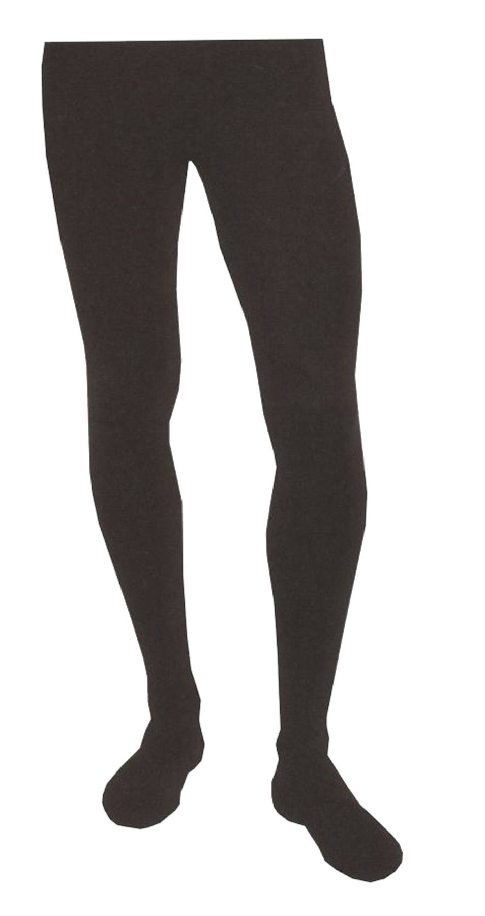 Capezio Men's Knit Footed Tights - Black, X-Large