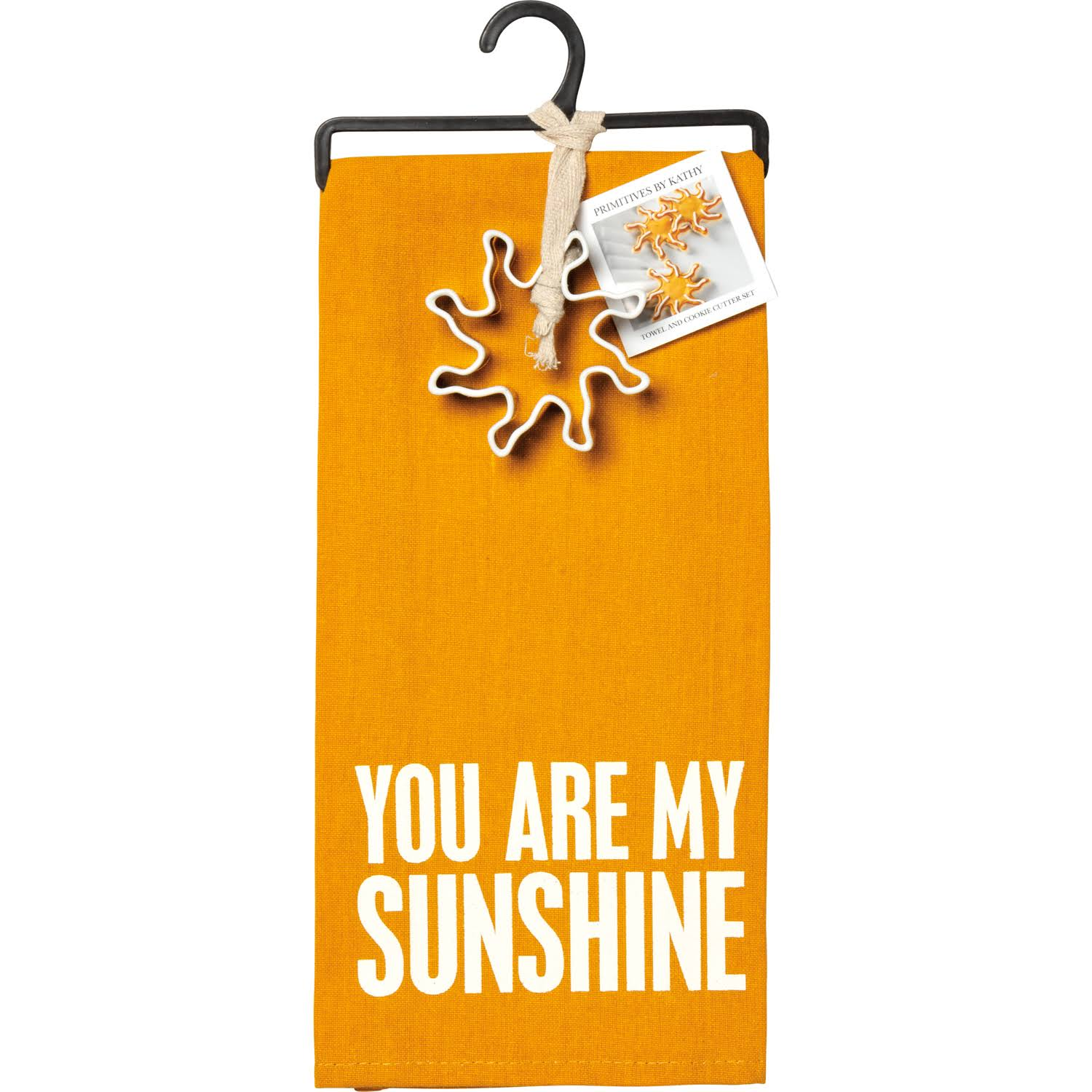Primitives by Kathy Towel & Cutter Set - You Are My Sunshine