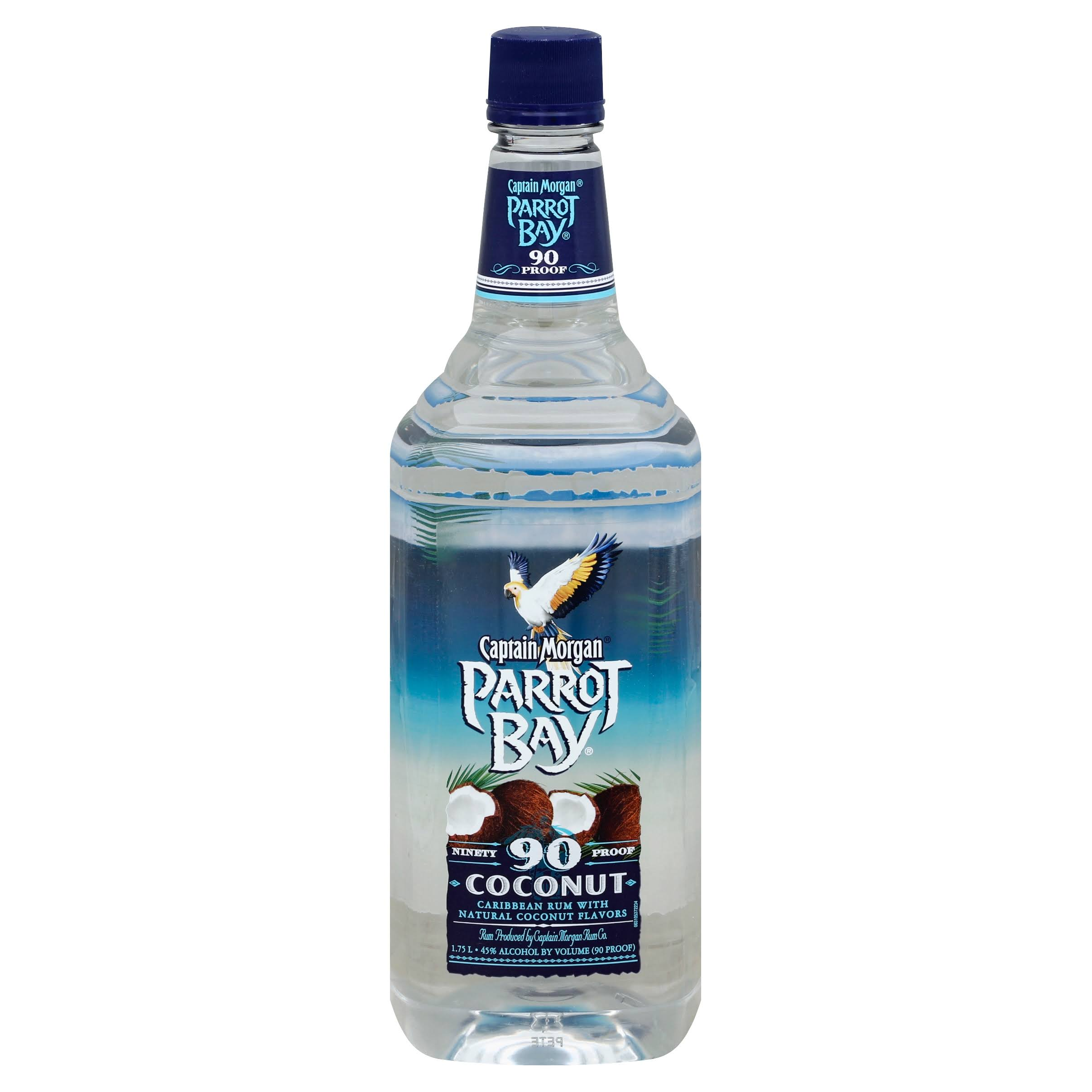 Parrot Bay Caribbean Rum, 90 Ninety Proof, with Natural Coconut Flavor - 1.75 l