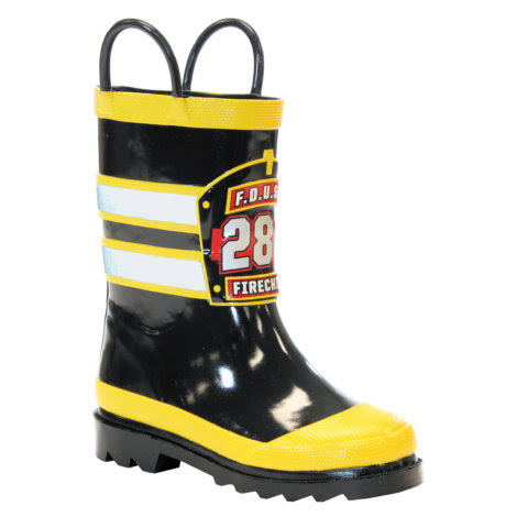 Western Chief Boys' Firechief Rain Boots - Black, US6