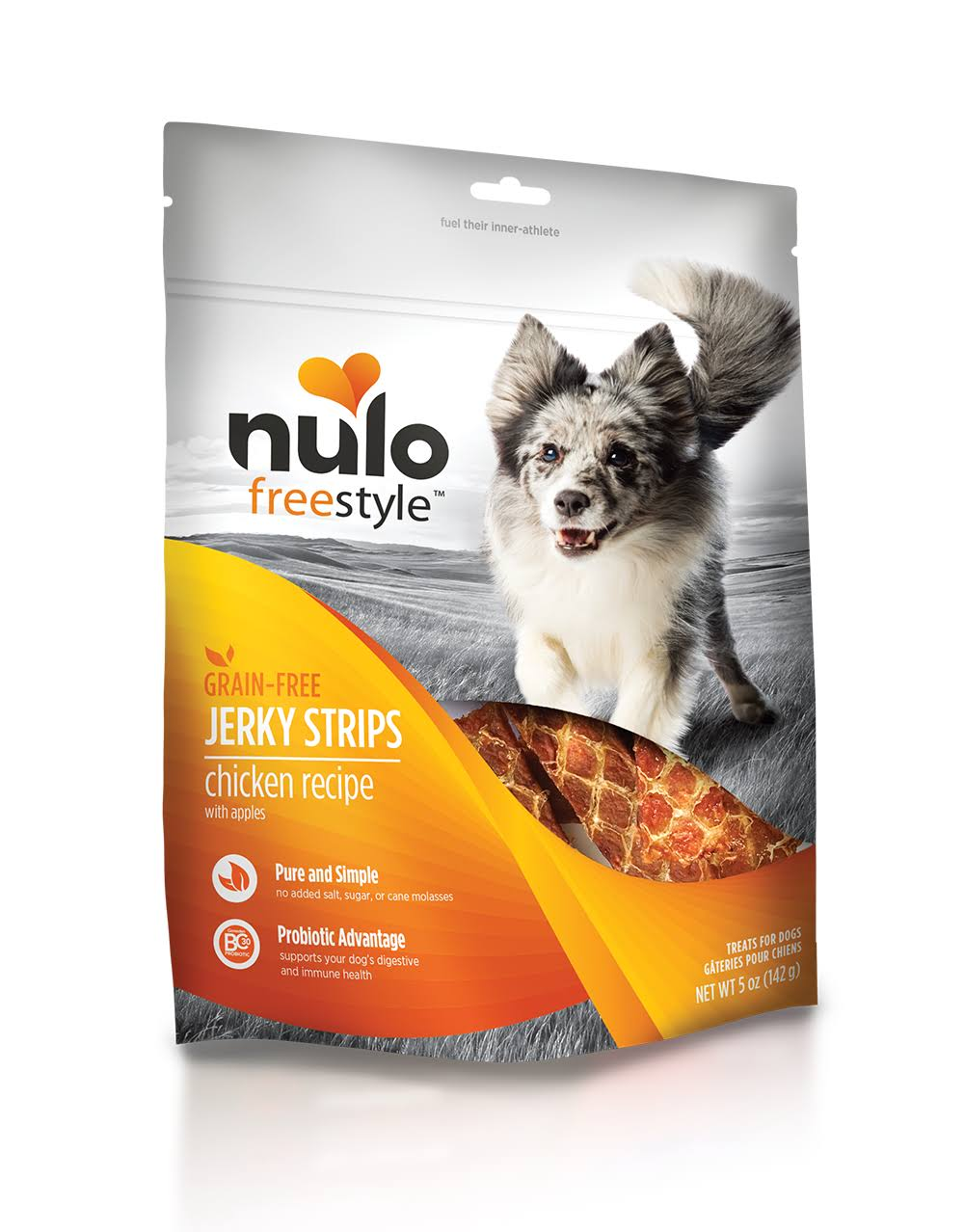 Nulo Freestyle Jerky Chicken Apple Dog Treat, 5 oz