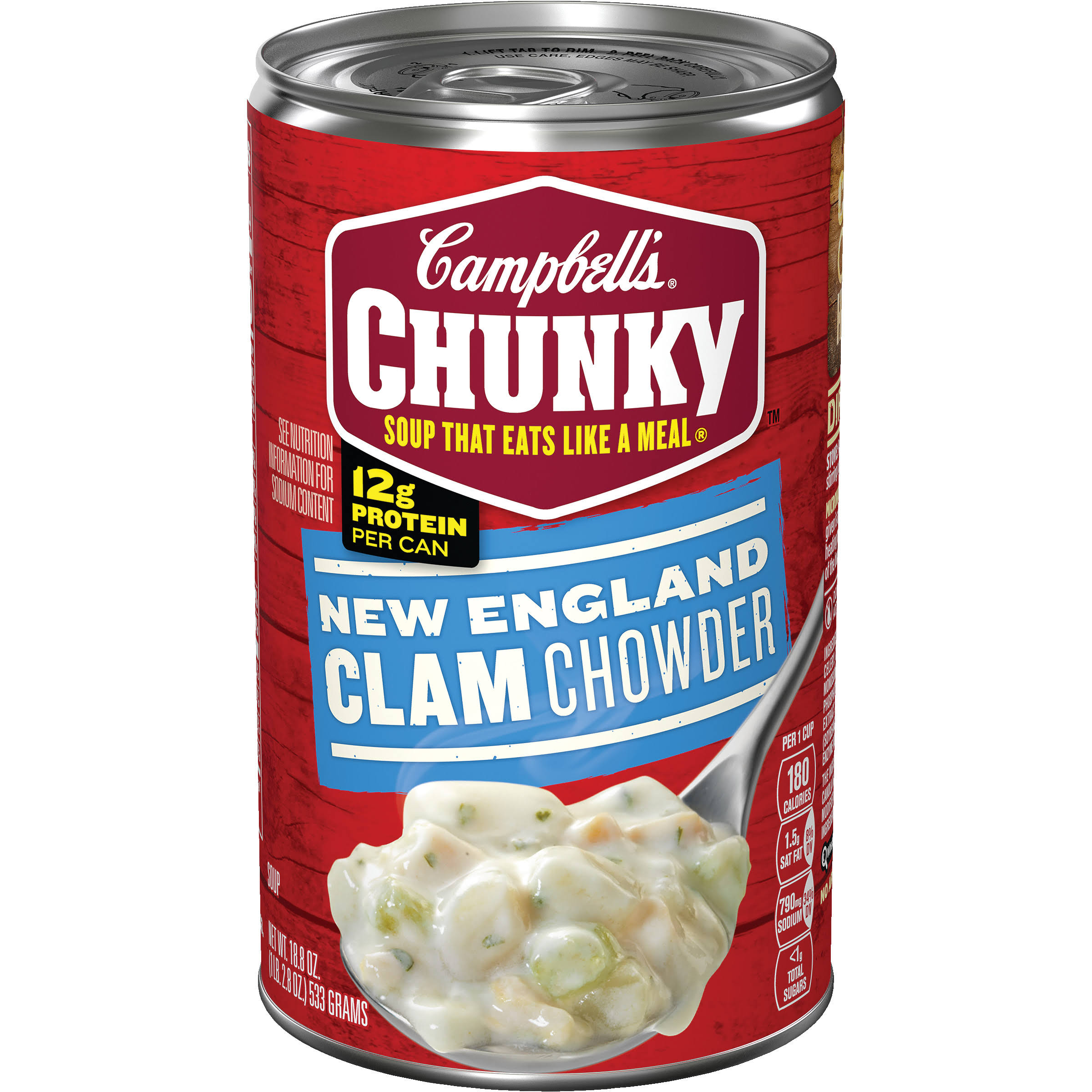 Campbell's Chunky New England Clam Chowder Soup - 18.8oz