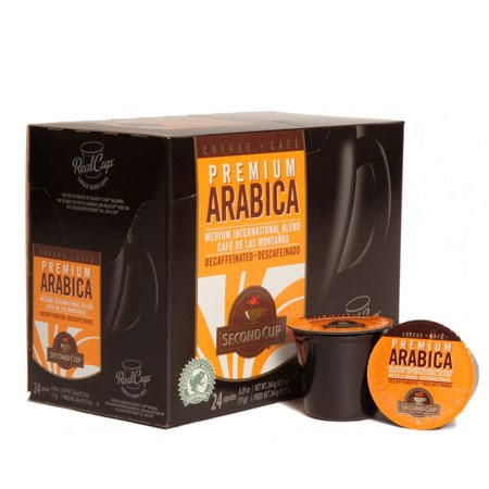 Second Cup K Cup RealCup Coffee for KCup Brewers - Premium Arabica, 24ct