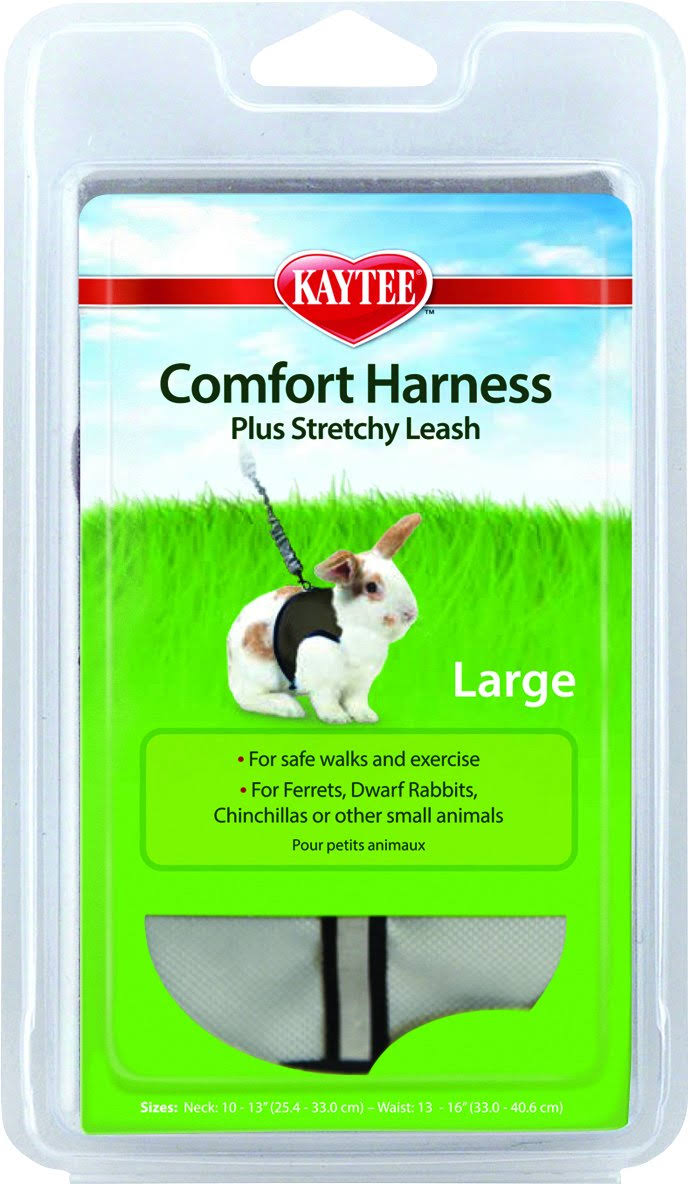 Comfort Harness with Stretchy Stroller Leash-Large