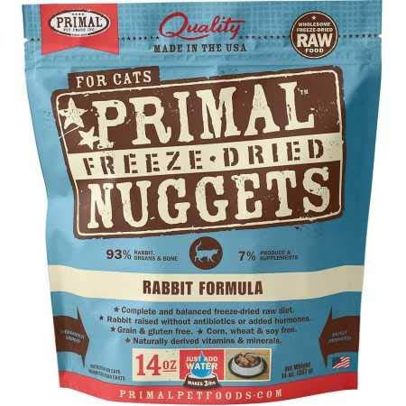 Primal Freeze Dried Cat Food - Rabbit Formula - 14 oz.
