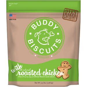 Buddy Biscuits Oven Baked Roasted Chicken Dog Treats, 3.5-lb