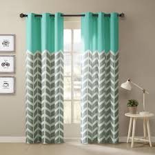 Moroccan Tile Curtain Panels by Top Of The Panel Features Solid Bright Yellow Aqua For A