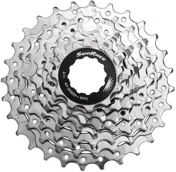 Sunrace Cycle Cassette - 11-28T, 8 Speed, Nickel Plated