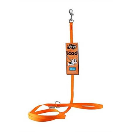 "GoGo Comfy Nylon Dog Leash - 3/8"" x 6', Orange"