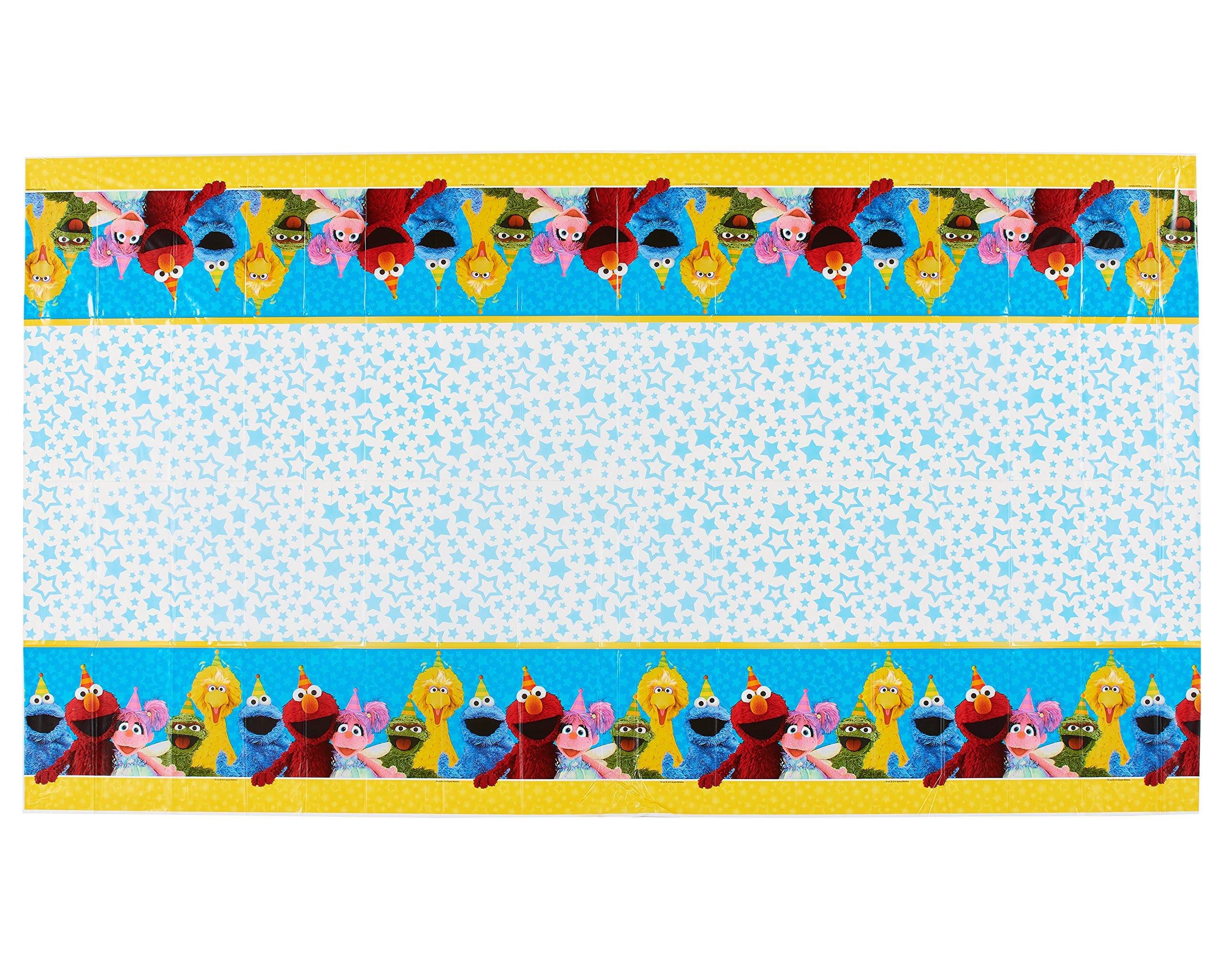 "American Greetings Sesame Street Plastic Table Cover - 54"" x 96"""