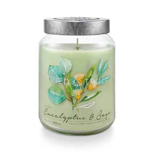 Tried and True Eucalyptus and Sage Extra Large Jar Candle