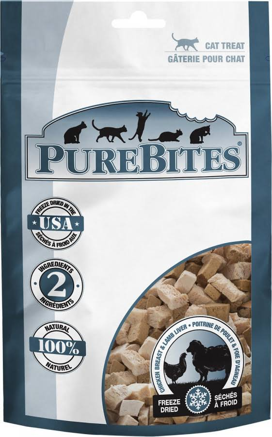 Pure Bites Freeze Dried Chicken Breast and Lamb Liver for Cats - 0.98oz