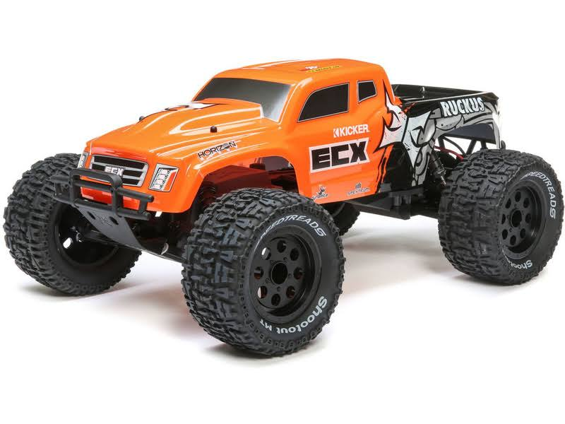 ECX Ruckus RTR Monster Truck - Orange, 1:10 Scale