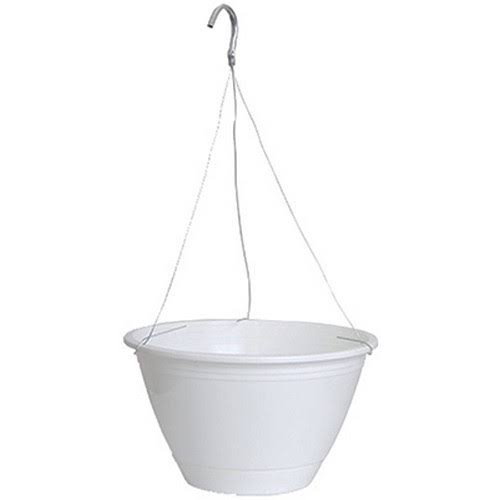 Ames True Temper Hanging Basket - White