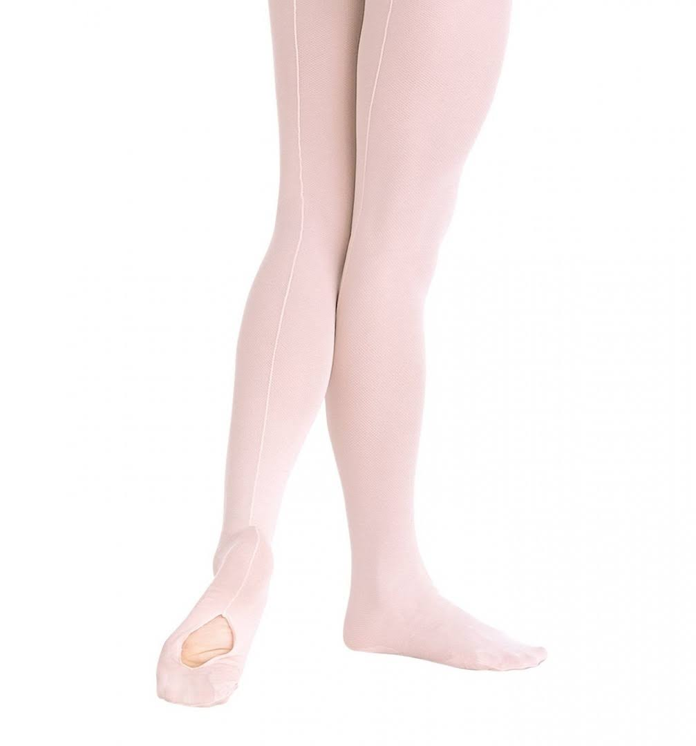 Body Wrappers C45 TotalSTRETCH Girls' Mesh Backseam Convertible Tights