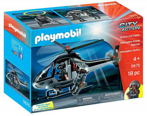Playmobil City Action Tactical Unit Copter Playset