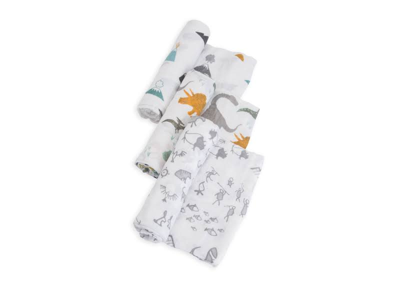Little Unicorn Cotton Muslin Swaddle Blankets - Set of 3