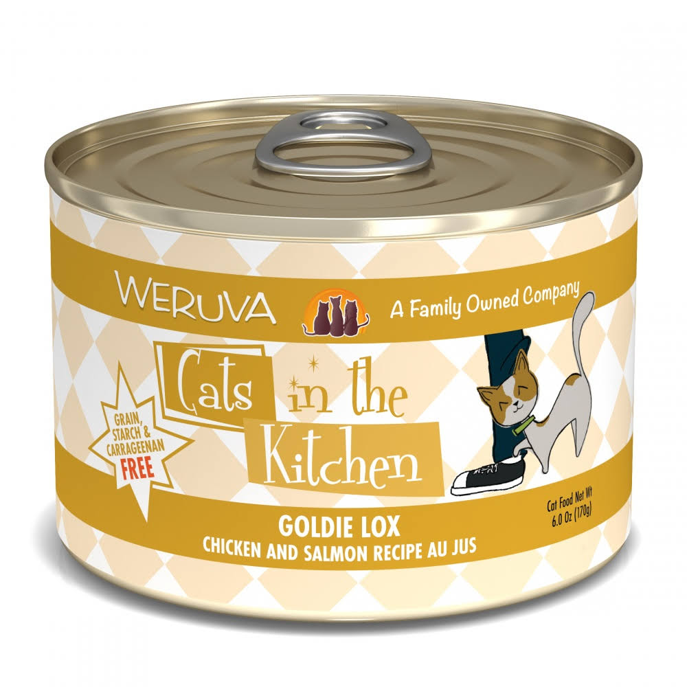 Weruva Cats In the Kitchen Grain-free Goldie Lox Wet Cat Food - Chicken & Salmon Recipe, 3.2oz