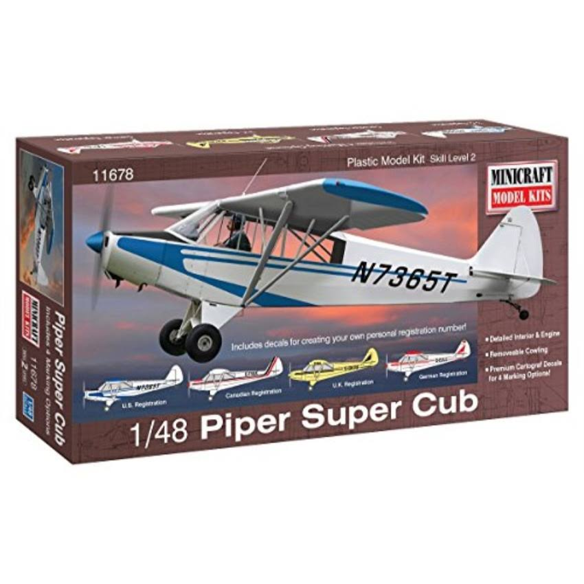 Minicraft Piper Super Cub Aeroplane Model Kit - 1/48 scale