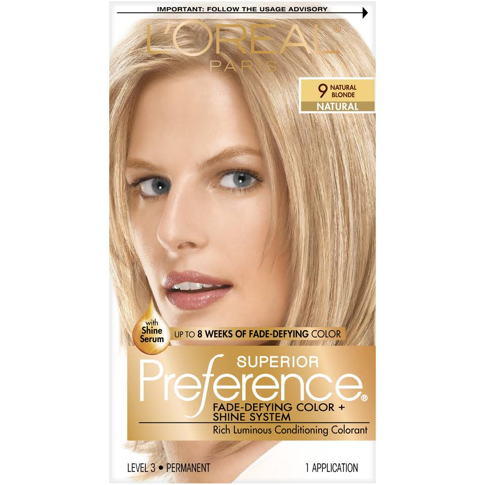 L'Oréal Paris Superior Preference Fade-Defying Color + Shine System - 9 Natural Blonde