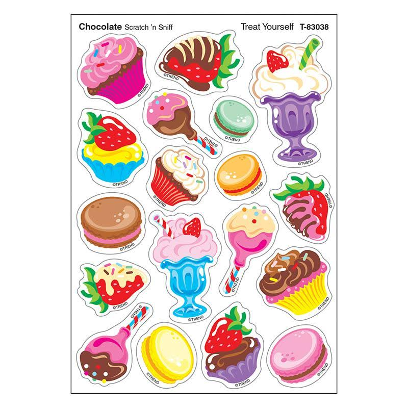 Treat Yourself/choc Shapes Stinky Stickers - Trend Enterprises