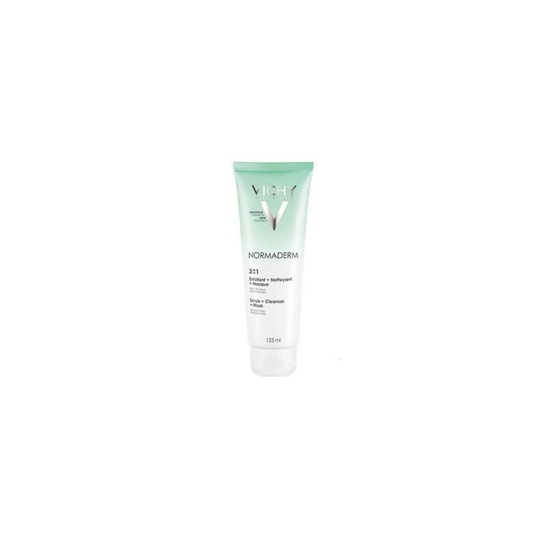 Vichy Normaderm 3in1 Scrub, Cleanser and Mask - 125ml