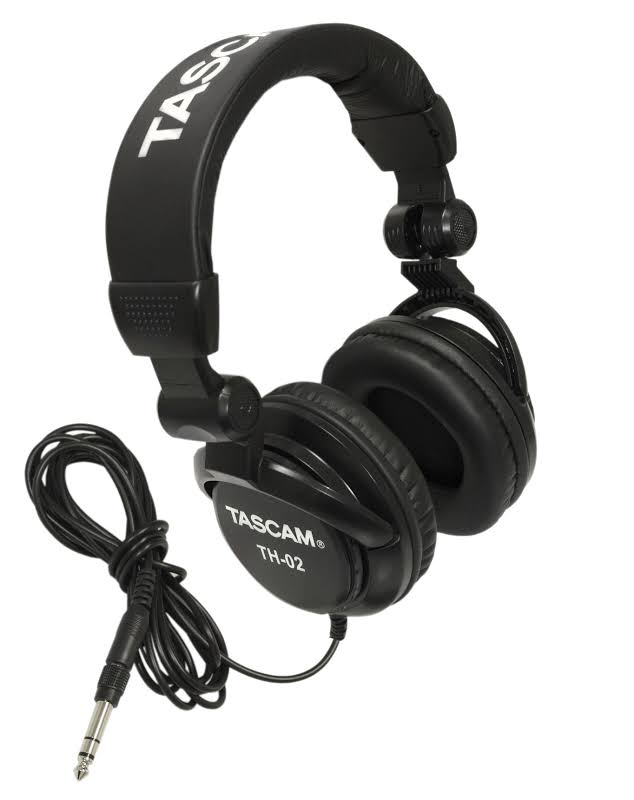 Tascam TH-02 Closed-Back Professional Headphones (Black) - TH02