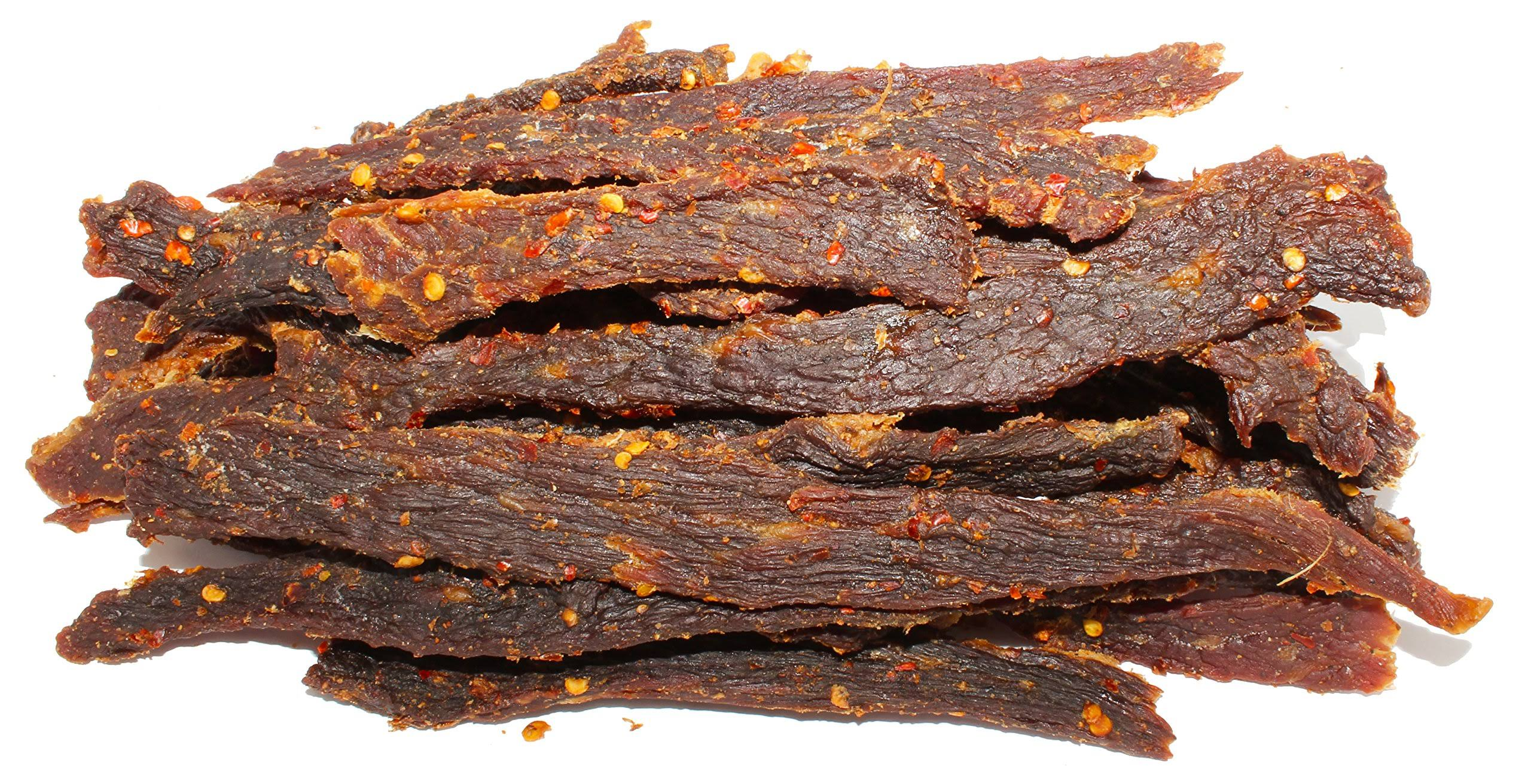 People's Choice Beef Jerky - Old Fashioned - Hot & Spicy - Sugar-Free, Carb-Free