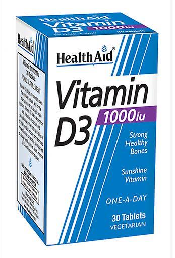 Health Aid Vitamin D3 1000iu Tablets - 30 Pack