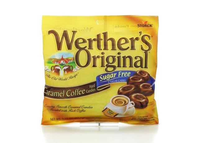 Werther's Original Sugar-Free Hard Candies - Caramel Coffee, 2.75oz Bag